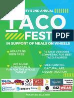 Tacofest 2018 Poster