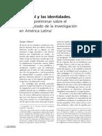 Sergio Villena - El Fútbol y Las Identidades. Balance Preliminar Sobre El Estado de La Investigación en América Latina