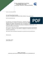Carta Auspicio LEAEE