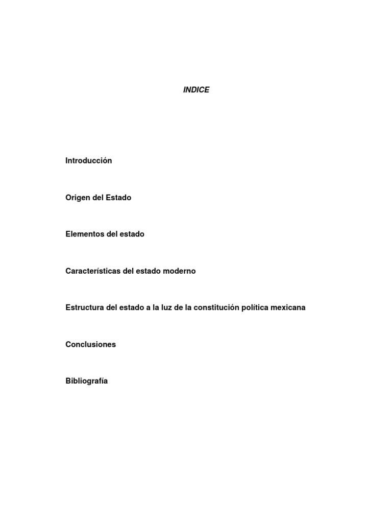 El Estado Su Origen Estructura y Actualidad