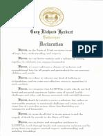 LoveLoud Day in Utah Declaration July 28, 2018