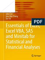 Cheng-Few Lee, John Lee, Jow-Ran Chang, Tzu Tai (Auth.)-Essentials of Excel, Excel VBA, SAS and Minitab for Statistical and Financial Analyses-Springer International Publishing (2016)
