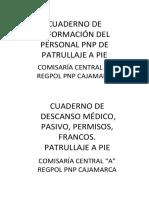 CUADERNO DE INFORMACIÓN DEL PERSONAL PNP DE PATRULLAJE A PIE