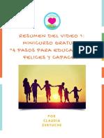 Resumen Minicurso Video 1 La Necesidad Emocional 1 de Tu Hijo