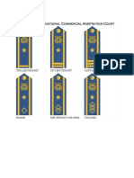 Rank insignias of the American International Commercial Arbitration Court