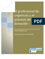 El profesional de urgencias y el proceso de donación