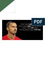 Quotes From King Zlatan Ibrahimovic