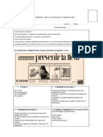 Prueba Semetral Coef 2 de Lenguaje y Comunicación 2017