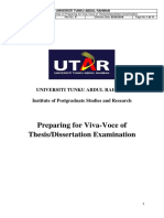 GD IPSR PSU 010 Preparing for Viva Voce of Thesis Dissertation Examination