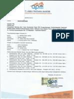 10. Surat Dukungan Material (PT. ABIKU)
