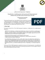 Orientaciones Licencia de Funcionamiento Colegios Privados 11 09 27