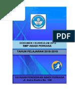 Draft Dokumen I Kurikulum 2018