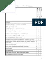 skills checklist - update d