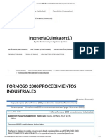 Formoso 2000 Procedimientos Industriales _ IngenieriaQuimica