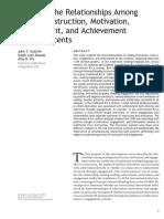 Reding Instructions Motivation Engagement Achievement