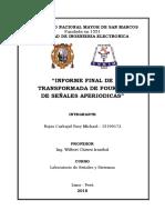 Informe Final de Transformada de Fourier