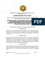 20-2009 Orden General Comisarias