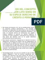 Análisis Del Concepto Obligación Lato-sensu en Su Especie Segunda Semana