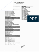 AMAES- List of Tertiary Programs