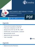 NIC 39 y NIIF 9 Instrumentos Financieros(21sept)Pptx