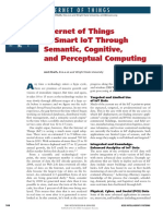 Internet of Things to Smart IoT Through Semantic, Cognitive, And Perceptual Computing