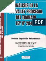 ANALISIS DE LA NUEVA LEY PROCESAL DEL TRABAJO