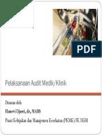 Pelaksanaan Audit Medik Klinik
