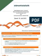 Überblick EZB-Verordnung Geldmarktstatistik 20150710