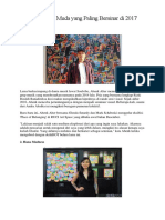 Seniman Muda Yang Paling Bersinar Di 2017