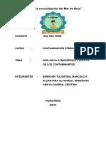 Vigilancia Atmosferica y Efecto de Los Contaminantes