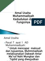 Amal Usaha Muhammadiyah Kedudukan Dan Fungsinya