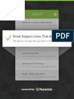 Email Subject Lines That Actually Work