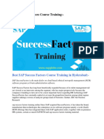SAP Success Factors Course Training
