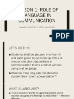 Eapp Lesson 1-3 Role of Communication, History of English, Academic Writing