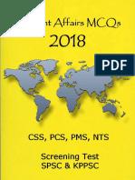 Current Affairs 2018 MCQs PCS - SPSC and KPPSC.pdf