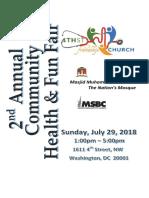 2018 07 29 Health Fair Program Guide