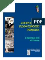 Utilizacion de Indicadores Epidemiologicos Lesiones Por Accidentes de Transito
