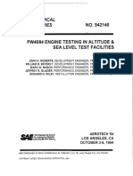 Pw4084 Engine Testing in Altitude & Sea Level Test Facilities