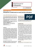 Management of failed metal-on-metal total hip arthroplasty