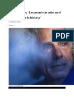 Entrevista Steven Pinker El Pais Junio 2018