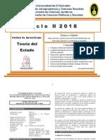 Unidad I Antecedentes y Genesis de La Teoria Del Estado Ciclo II 2018