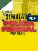 Simulado Para Agente Da PF 21 07 Estratégia Conc