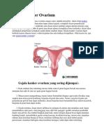 Gejala Kanker Ovarium