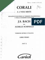 Bach Corali Schinelli Libro 1