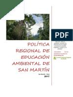 Política Regional de Educación Ambiental
