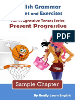 Present Progressive Stories and Exercises Sample
