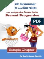 Present Progressive Stories and Exercises Sample