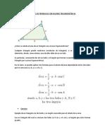 Área de Un Triángulo Con Razones Trigonométricas