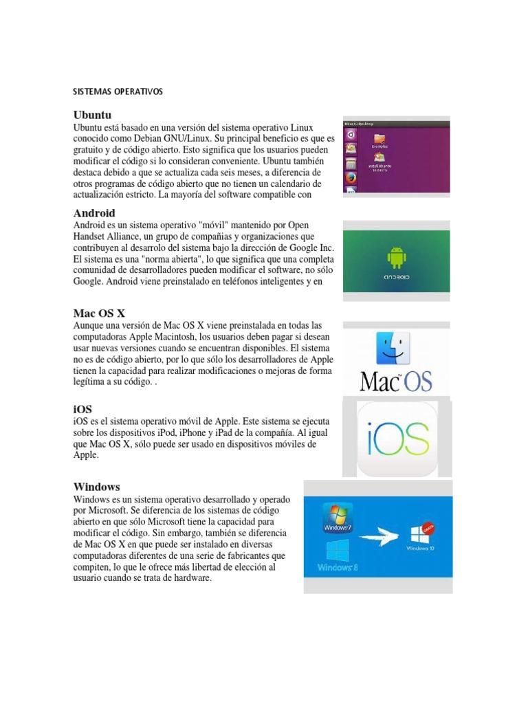 03d57144268 SISTEMAS OPERATIVOS | Android (Operating System) | Mac Os