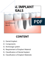 7. Dental Implant Materials